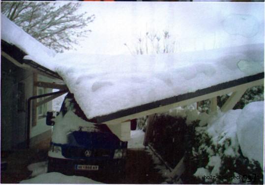 Eingest rzte dachkonstruktion eingest rztes carportdach for Zugstab druckstab
